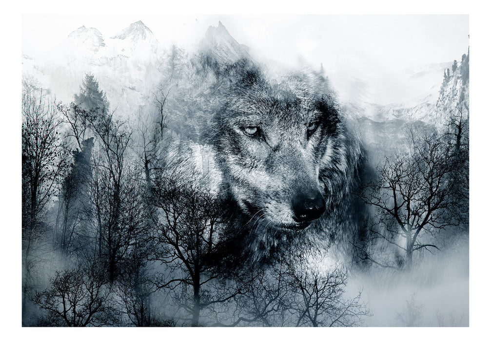 Fototapet - Mountain Predator (Black and White)