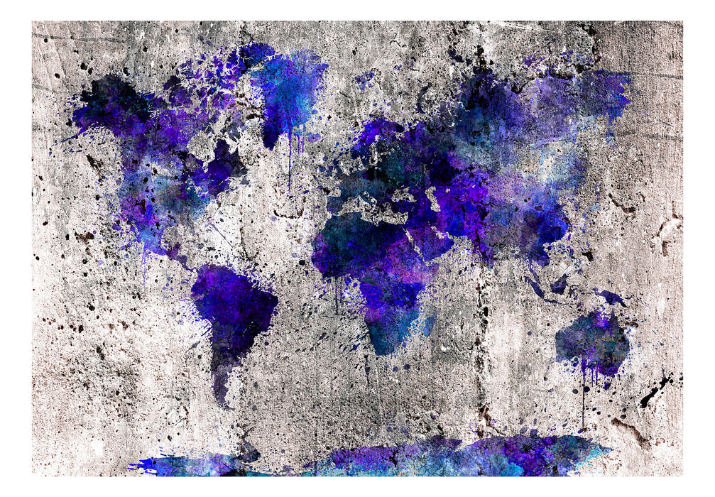 Fototapet - World Map: Ink Blots