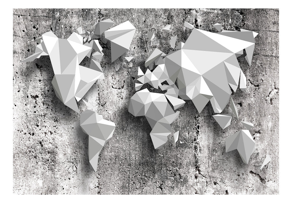 Fototapet - World Map: Origami