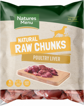 NM Raw Chews Poultry Liver Chunks 1kg