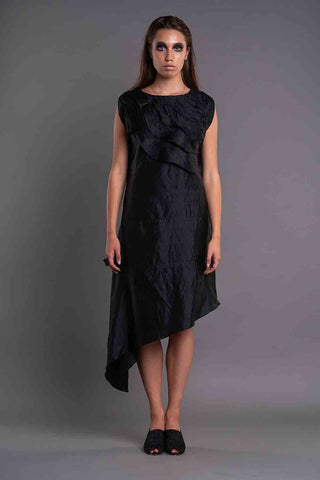 ASYMMETRICAL RUFFLED DRESS - Afterlife Projects