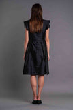 NECK PLEATED RUFFLED DRESS - Afterlife Projects