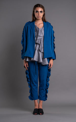 FITTED RUFFLED JACKET-TROUSER - Afterlife Projects