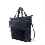 Asymmetric Tote Bag Black - Afterlife Projects