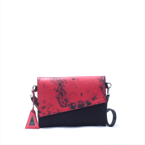 Cross Body Clutch Red - Afterlife Projects