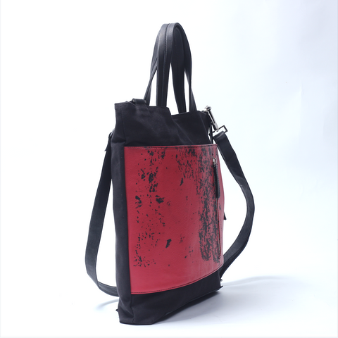 Transformable Tote Red - Afterlife Projects