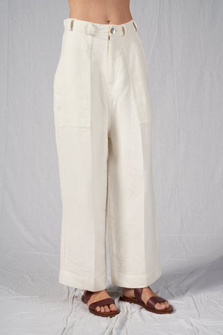 North Pants Ivory - sustainable fashion product