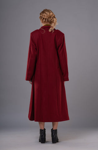Rosy red Coat - sustainable fashion product