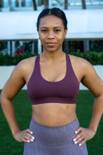 Load image into Gallery viewer, Buttery Soft Sports Bra - Plum