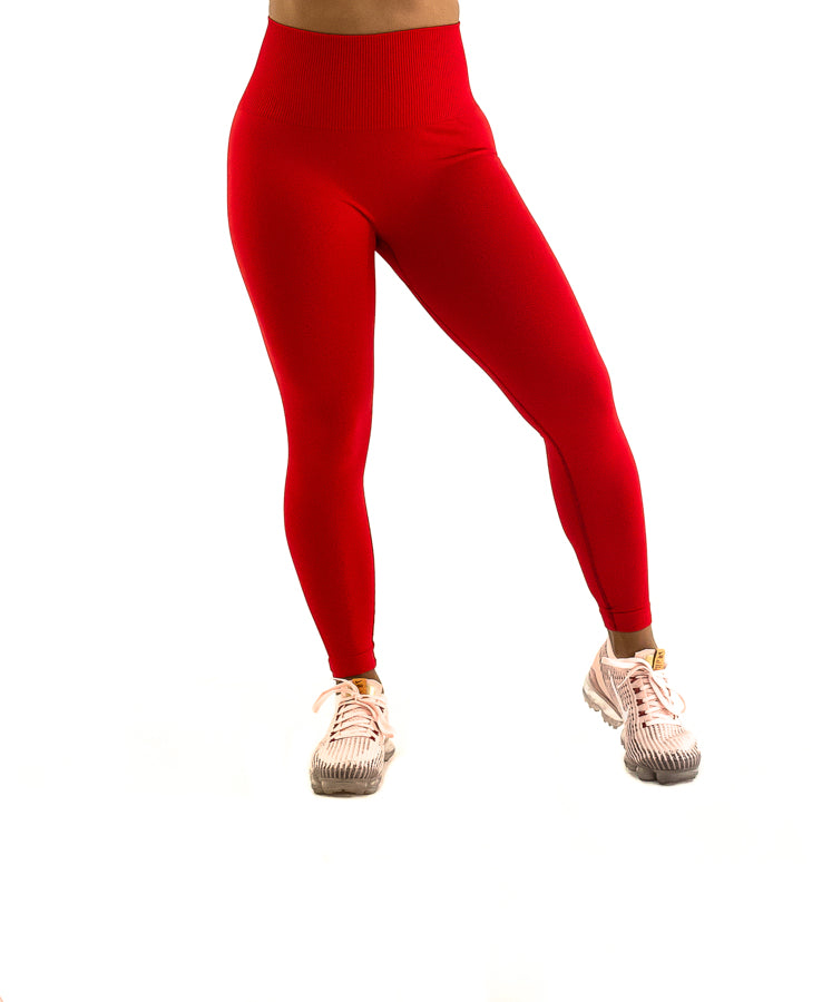 Simplicity Leggings - Red
