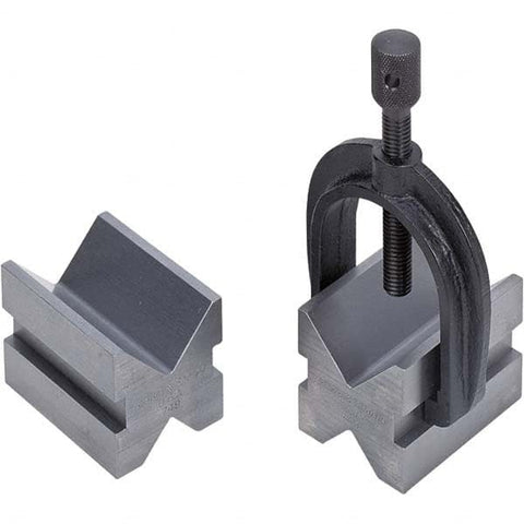 Brown & Sharpe 599-749 V-Blocks and Clamp No. 749