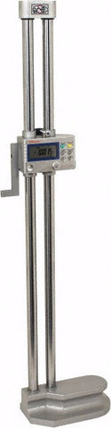 "Mitutoyo 192-631-10 Digimatic Height Gage, 0-18""/0-450mm Range, .0005""/ 0.01mm Resolution"