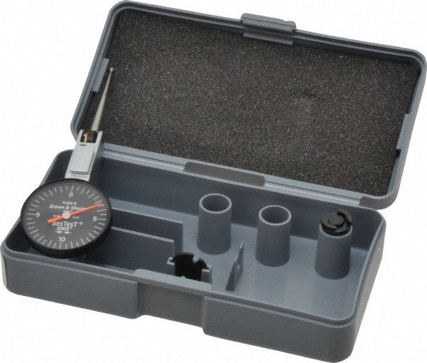 "Brown & Sharpe 599-7034-5 BesTest Dial Test Indicator, .020"" Range, .0005"" Graduation"