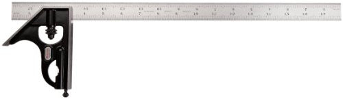 "Starrett 33H-18-16R Combination Square with Square Head, 18"" Blade Length"