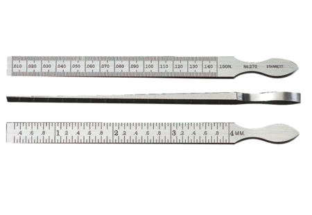 "Starrett 270 Taper Gage, .010-.150""/0.3-4mm Range, .001""/0.05mm Graduation"