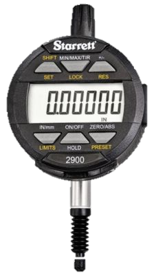 "Starrett 2900-1 Electronic Indicator, 0-.5""/0-12mm Range, .00005""/0.001mm Resolution"