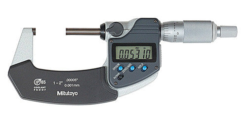 "Mitutoyo 293-331-30 Digimatic Micrometer, 1-2""/25-50mm Range/ .00005""/0.001mm Resolution"