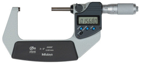 "Mitutoyo 293-346-30 Digimatic Micrometer, 2-3""/50-76mm Range, .00005""/0.001mm Resolution"