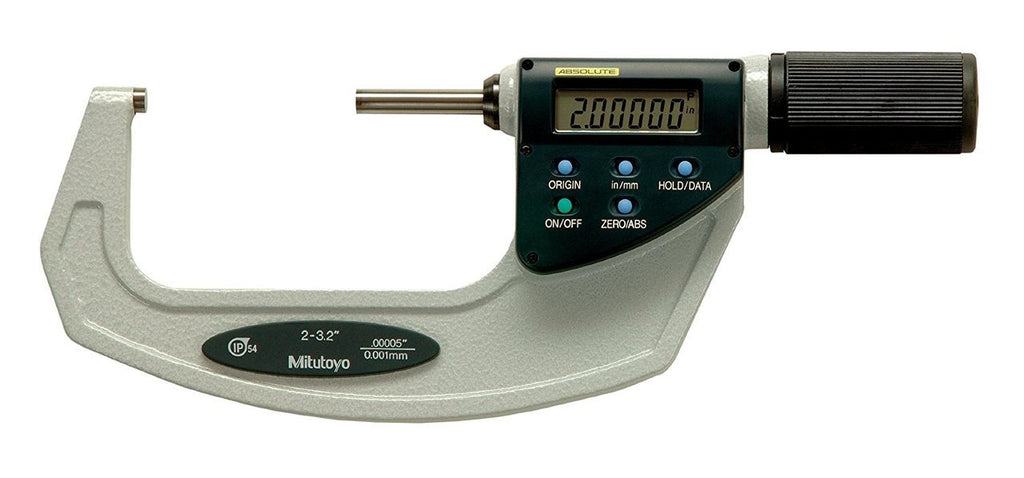 "Mitutoyo 293-678-20 Quickmike Digimatic Micrometer with SPC Output, 2-3.2""/50.8-81.28mm Range, .00005""/0.001mm Resolution"