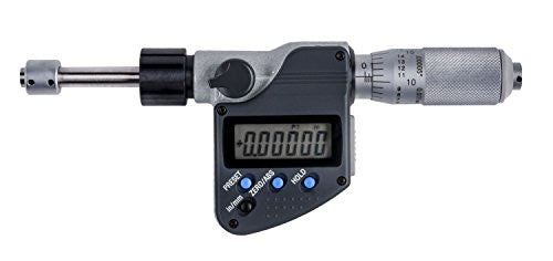 "Mitutoyo 350-361-30 Plain Flat Micrometer Head, 0-1""/0-25mm Range, .00005""/0.001mm Resolution"