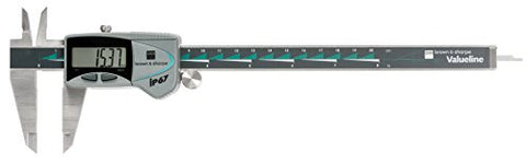"Brown & Sharpe 00599392 Valueline IP67 Electronic Caliper 0-8""/200mm Range .0005""/0.01MM Graduation"