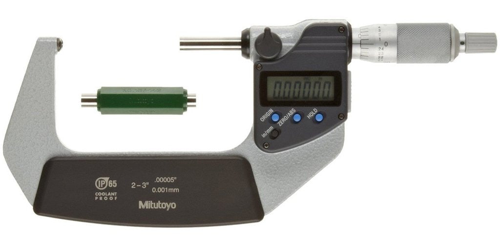 "MTI 395-353-30 Spherical Face Micrometer, 2-3"" Range, .0001"",  .00005""/0.001mm Resolution"