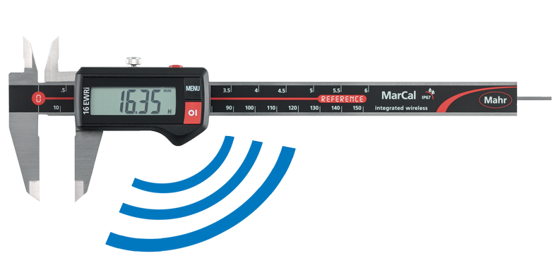 "Mahr 4103404 MarCal 16 EWRi Electronic Caliper 0-8""/200mm Range .0005""/0.01mm Resolution"