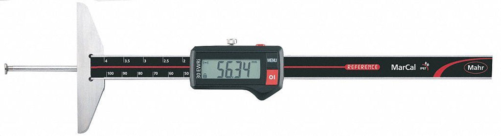 "Mahr 4126532 MarCal30 EWRi-N Electronic Depth Gage 0-4""/100mm Range .0005""/0.01mm Resolution"