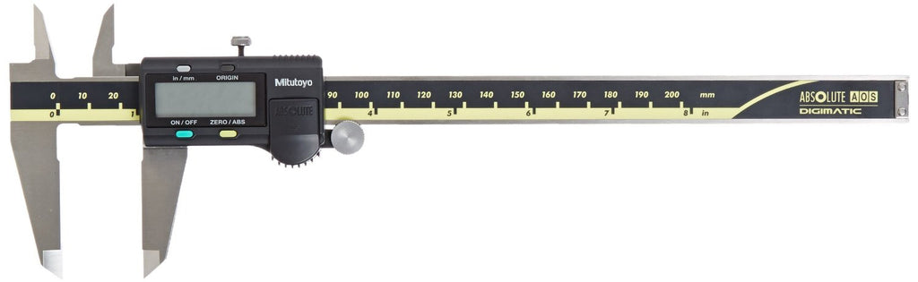"Mitutoyo 500-197-30 Digimatic Caliper, 0-8""/0-200mm Range, .0005""/0.01mm Resolution"