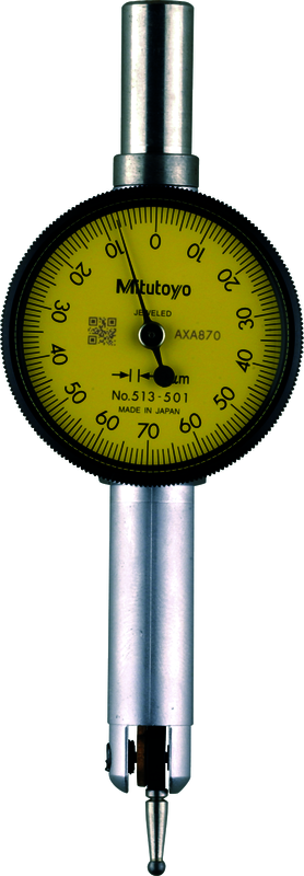 Mitutoyo 513-503T Pocket Type Dial Test Indicator, 0.2mm Range, 0.002mm Graduation *CLEARANCE