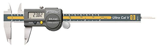 "Fowler 54-100-067-1 Ultra-Cal V Electronic Caliper, 0-6""/0-150mm Range, .0005""/0.01mm Resolution"