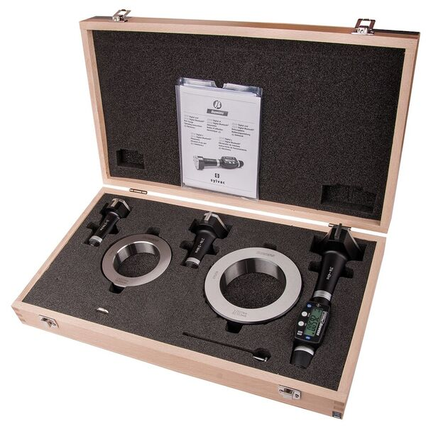 "Fowler 54-367-100-BT Bluetooth Electronic Holemike Sets 2-4""/50-100mm Range, .00005""/0.001mm Resolution"