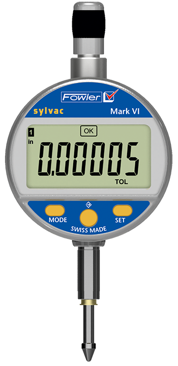"Fowler 54-530-125-0 Mark VI Electronic Indicator 0-.500""/12.5mm Range .0005""/0.01mm Resolution"