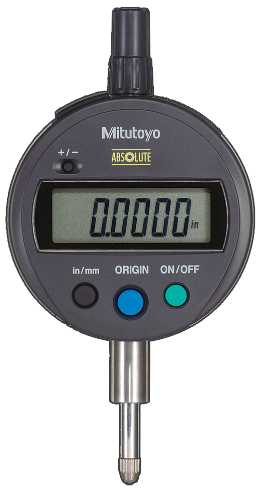 "Mitutoyo 543-783 Digimatic Indicator, 0-.5""/0-12.7mm Range, .0005""/0.01mm Resolution"