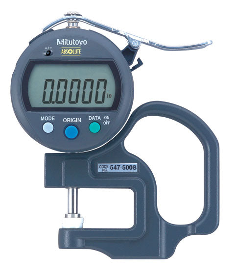"Mitutoyo 547-500S Digimatic Thickness Gage 0-.47""/12mm Range .0005""/0.01mm Resolution"
