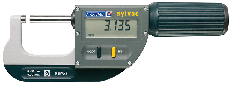 "Fowler 54-815-130-0 Rapid-Mic Electronic Micrometer 0-1.18""/30mm Range .00005""/0.001mm Resolution"