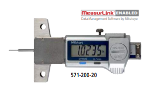 "Mitutoyo 571-200-20 Tire Tread Depth Gage 0-1""/25mm Range .0005""/0.01mm Resolution"
