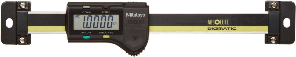 "Mitutoyo 572-210-30 ABSOLUTE Digimatic Scale, 0-4""/0-100mm Range, .0005""/0.01mm Resolution"