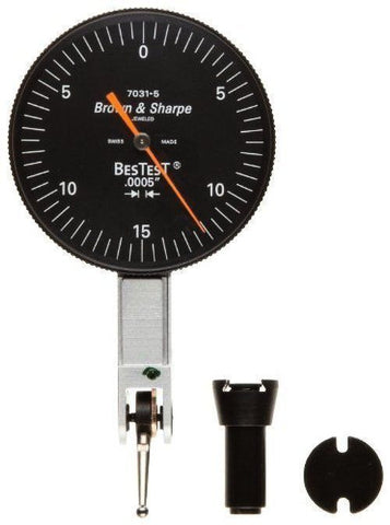 "Brown & Sharpe 599-7031-5 BesTest Dial Test Indicator, .030"" Range, .0005"" Graduation"