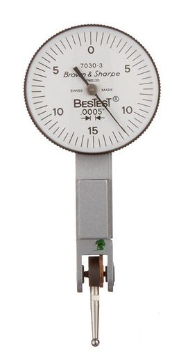 "Brown & Sharpe 599-7030-3 BesTest Dial Test Indicator, .030"" Range, .0005"" Graduation"