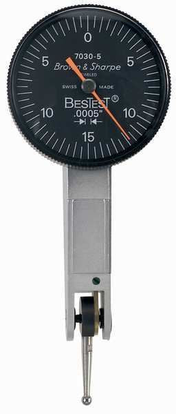 "Brown & Sharpe 599-7030-5 BesTest Dial Test Indicator, .030"" Range, .0005"" Graduation"