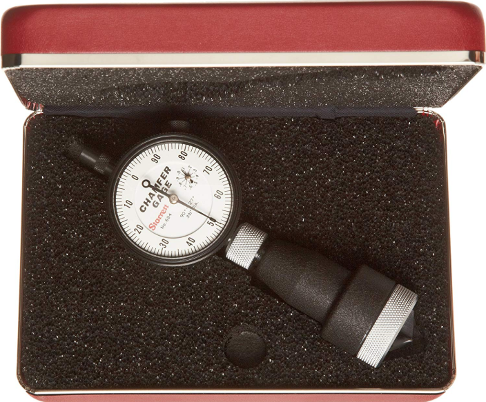 "Starrett 684-3Z Internal Dial Chamfer Gage, 0-1"" Range, .001"" Graduation, 90-127 Degree"