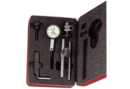 "Starrett 708ACZ Dial Test Indicator with Dove Tail Mount, .010"" Range, .0001"" Graduation"