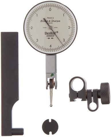"Brown & Sharpe 599-7033-3 BesTest Dial Test Indicator, .008"" Range, .00005"" Graduation"