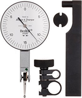 "Brown & Sharpe 599-7031-3 BesTest Dial Test Indicator, .030"" Range, .0005"" Graduation"