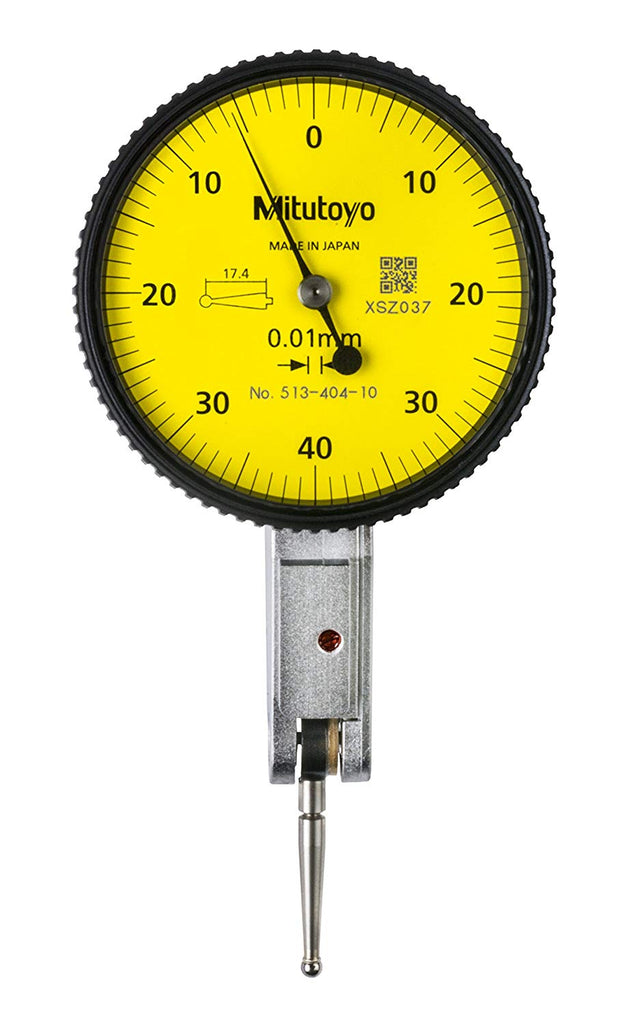 Mitutoyo 513-404-10A Dial Test Indicator, 0.8mm Range, 0.01mm Graduation