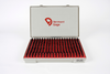 "901100700 Vermont Gage Class ZZ Black Guard pin gage set (.626-.7500"") 125pc plus tolerance"