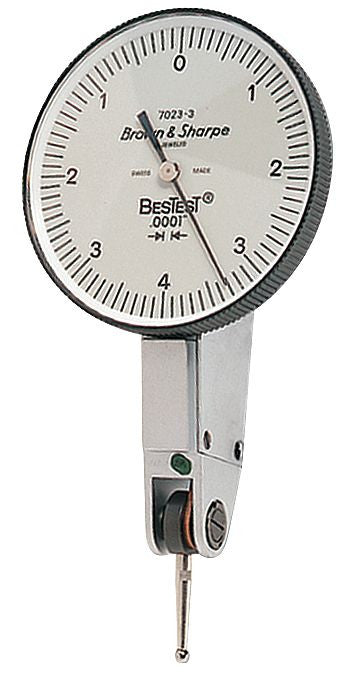 "Brown & Sharpe 599-7023-3 BesTest Dial Test Indicator, .008"" Range, .0001"" Graduation"