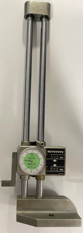 "Mitutoyo 192-116 Dial Height Gage with Digital Counter, 0-12"" Range, .001"" Graduation *USED/RECONDITIONED*"