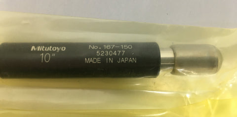 "Mitutoyo 167-150 Micrometer Standard Bar, 10"" Length, .37"" Diameter *New-Open Box Item"